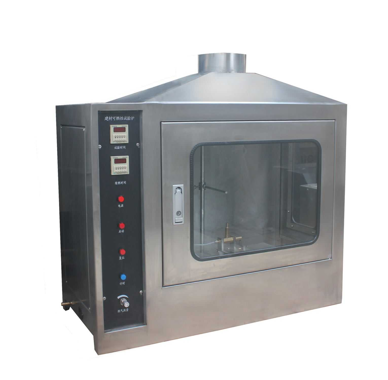 Building material burning tester